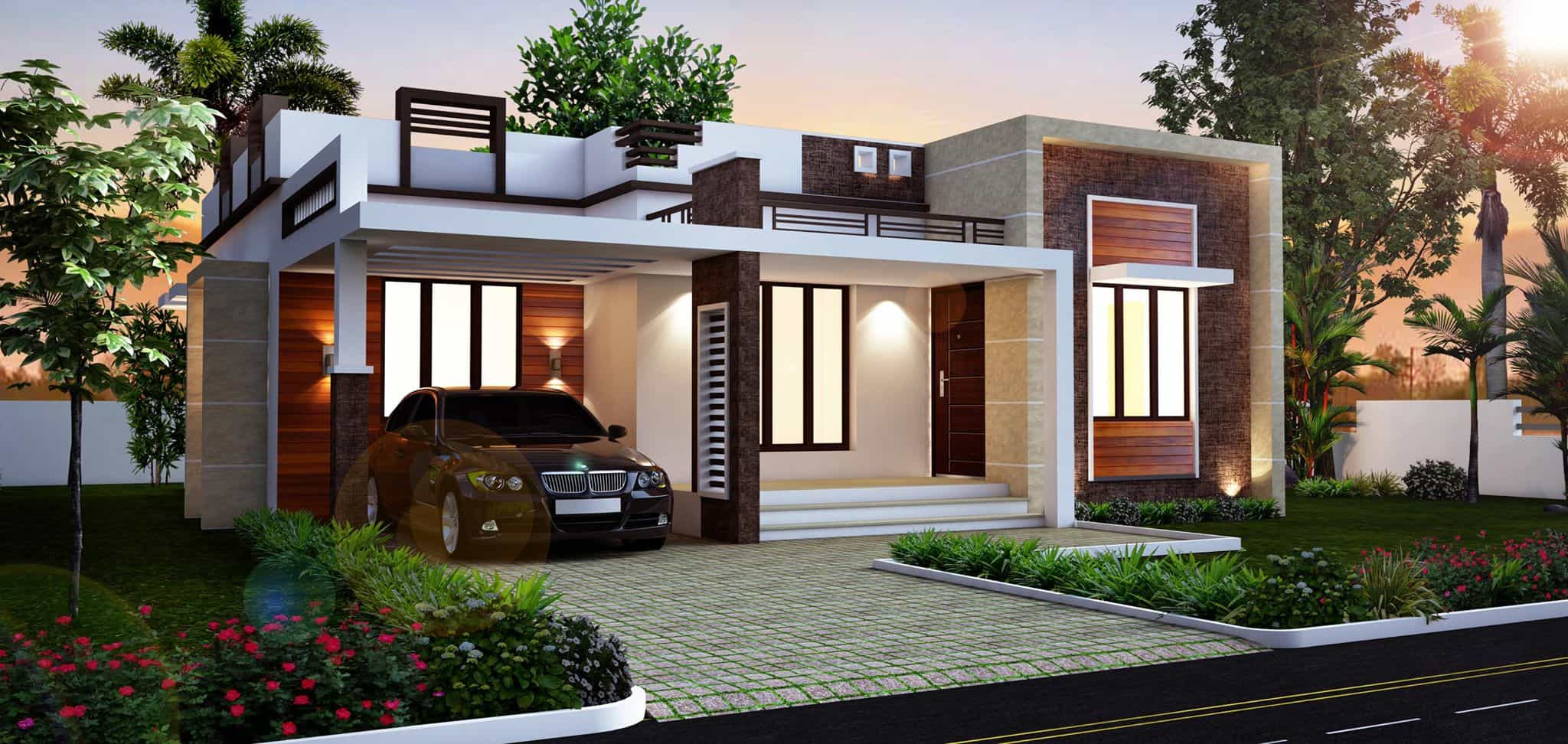 A rustic, windswept house overlooking the atlantic ocean. Kerala Home Design & House Plans   Indian & Budget Models
