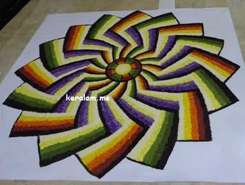 Onam Pookalam Design 65