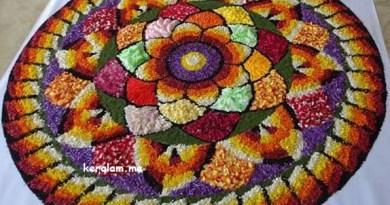 Onam Pookalam Design 66