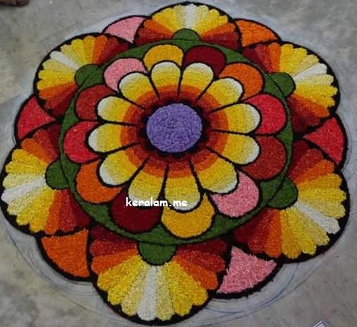 Onam Pookalam Design 79