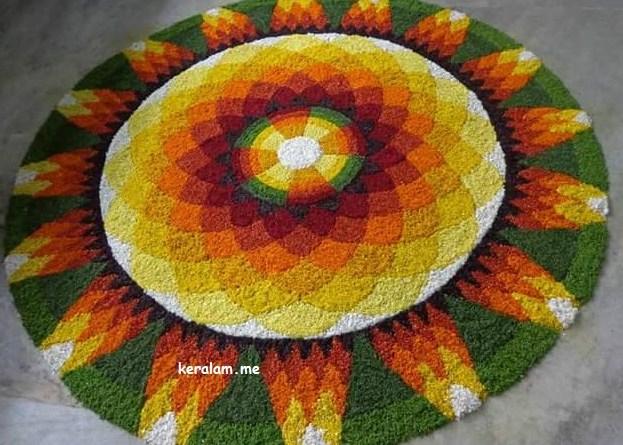 Onam Pookalam Design 89