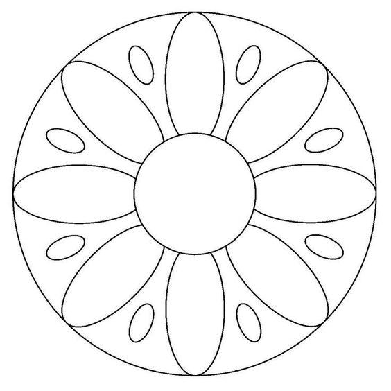 simple onam pookalam outline designs, onam 2020