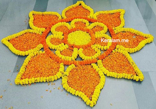 flower rangoli design onam pookalam 2021