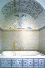 интерьер ванной комнаты, мозайка