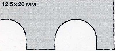 зубчатый шпатель 12,5х20 - инструмент для укладки плитки