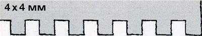 зубчатый шпатель 4х4 - инструмент для укладки плитки