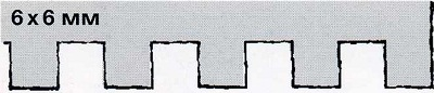 зубчатый шпатель 6х6 - инструмент для укладки плитки