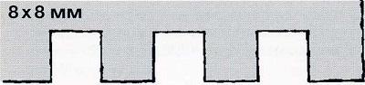 зубчатый шпатель 8х8 - инструмент для укладки плитки