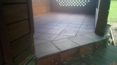 укладка плитки на террасу