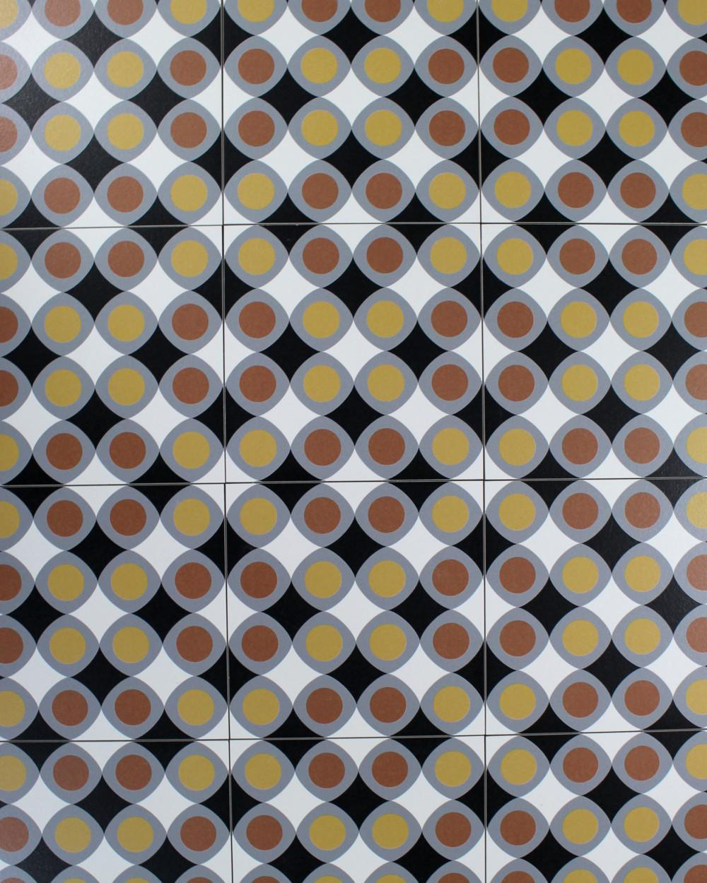 vintage tiles with 70 s style circle pattern tile online shop