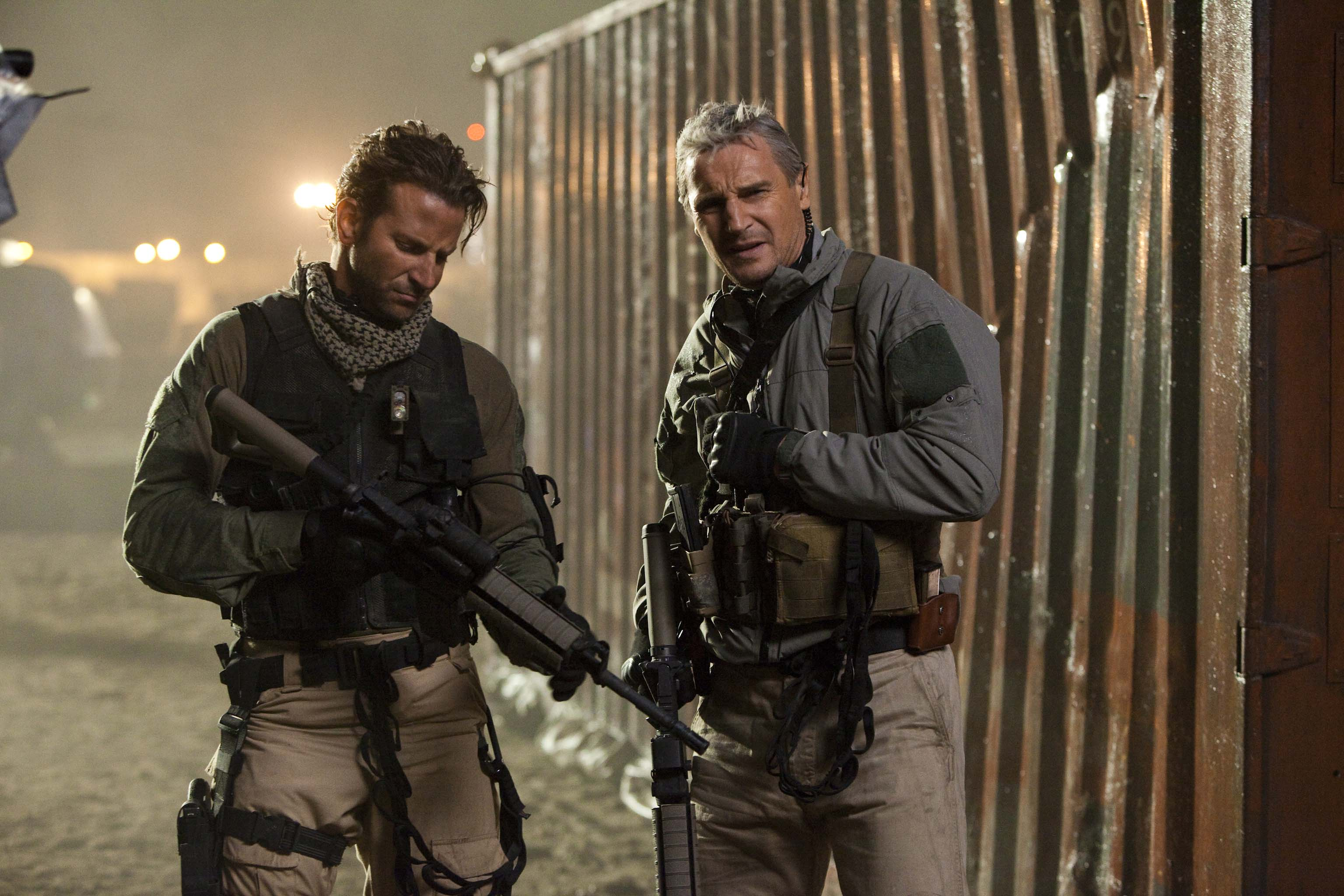 Guide Face Peck (Bradley Cooper) and Sentinel Hannibal Smith (Liam Neeson)