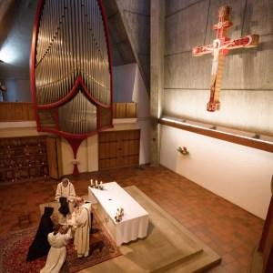 Profession solennelle d'un profès temporaire à l'abbaye sainte anne de Kergonan
