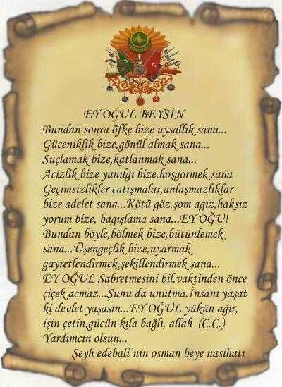 Şeyh Edebalının Osman Gaziye Nasihati Levhalı