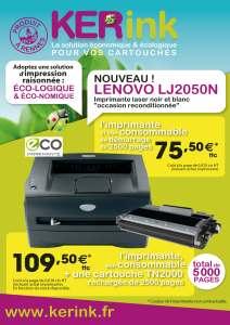 Imprimante reconditionnée d'occasion garantie une année. Pour plus d'écologie et d'économie