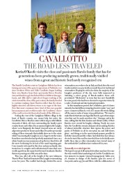 Cavallotto. The road less traveled