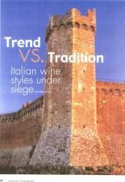 Trend vs. Tradition. Italian wine styles under siege
