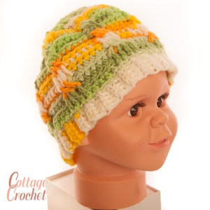 childs messy bun hat