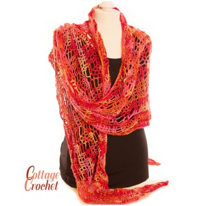 sunset coloured shawl