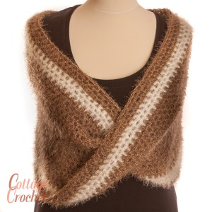 fawn and white cowl