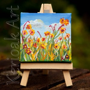 summer flowers miniature art