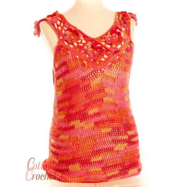 Bright Coloured Sleeveless Summer Top