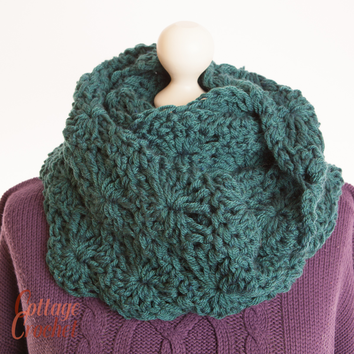 07793062d06 Dark Green Mobius Cowl, unisex turquoise infinity scarf or shawl ...