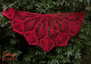 soft red shawl