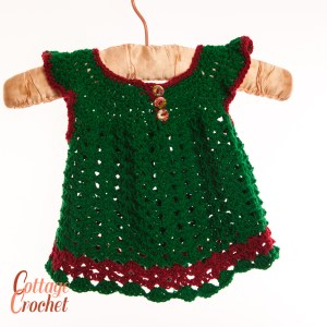 Green Christmas Baby Dress