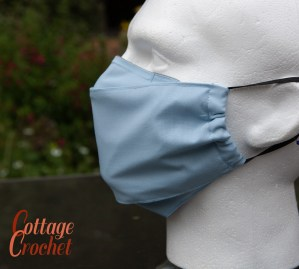 Mens Pale Blue Facemask