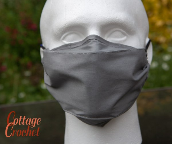 Mens Silver Grey Facemask