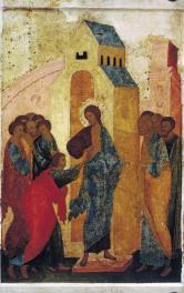 Russische icoon van Sint-Tomas (15e eeuw)