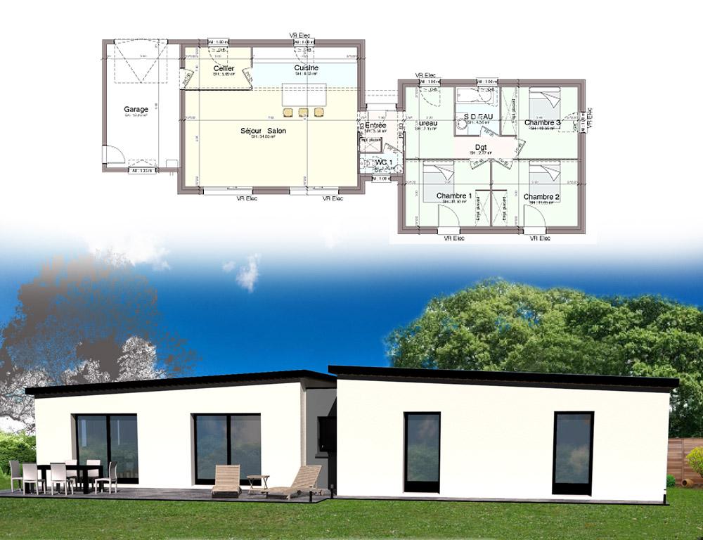 Style Darchitecture Maison Plain Pied Kermor Habitat