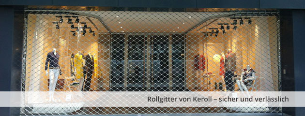 Folding grilles from Keroll – secure and reliable