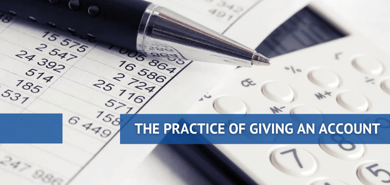 The Practice of Giving an Account