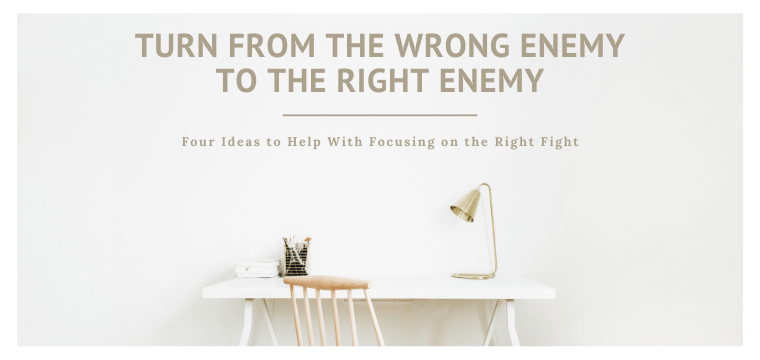 Turn From the Wrong Enemy to the Right Enemy