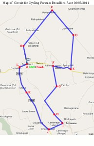 Cycling Pursuits Cup 2011 Route