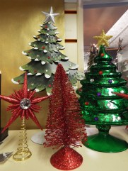 Red and Green Christmas ornaments at Kershaw's Garden Centre