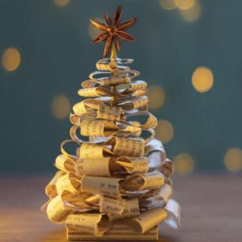 Kerstkaart met een tekst