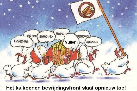 Kerstfun: Het kalkoenen bevrijdingsfront
