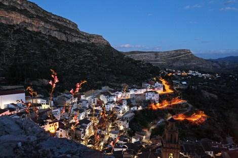 Chulilla in der blauen Stunden | Kletterfotografie