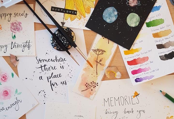 Jeder Mensch kann kreativ sein! Wie mir Aquarellmalerei und Lettering durch schwere Zeiten geholfen haben und wie auch du malen lernen kannst.