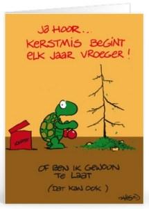 Kerst tekst grappig voor op een kaartje