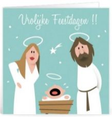 Kerst tekst voor ouders voor op een kaartje