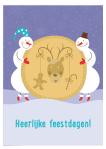 Kerstkaart met kerstspel: Kop of staart