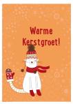 Kerstkaart met kerstspel: Warme Wantjes