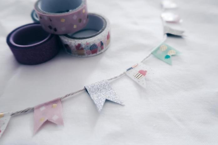 10 DIY Ideen Washi Tape - Fähnchen Girlande
