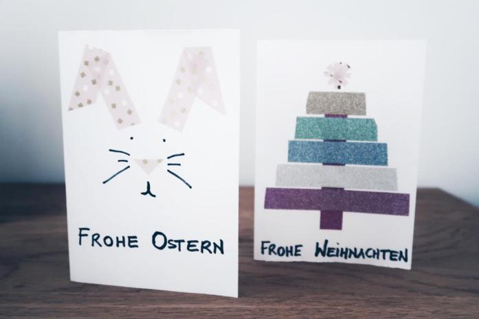 10 DIY Ideen Washi Tape - Osterkarte, Weihnachtskarte, Themenkarte, Grußkarte, Geburtstagskarte