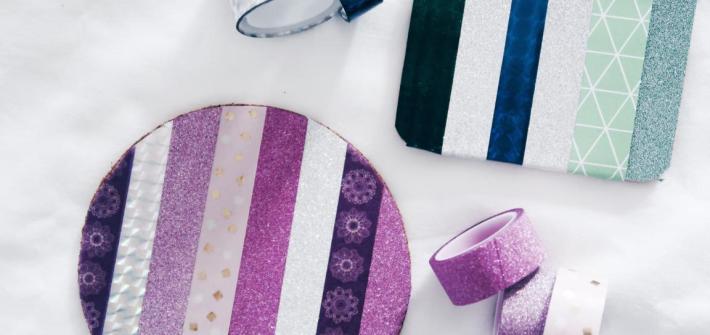 10 DIY Ideen Washi Tape - Getränke Untersetzer