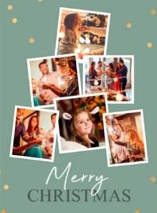 Korte kerstwens en kerstkaart