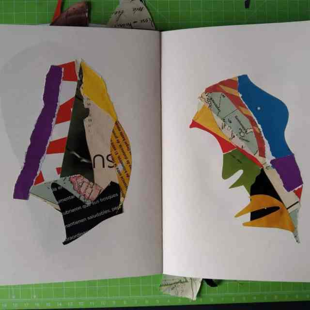 My Sketchbook for Abstract Collages